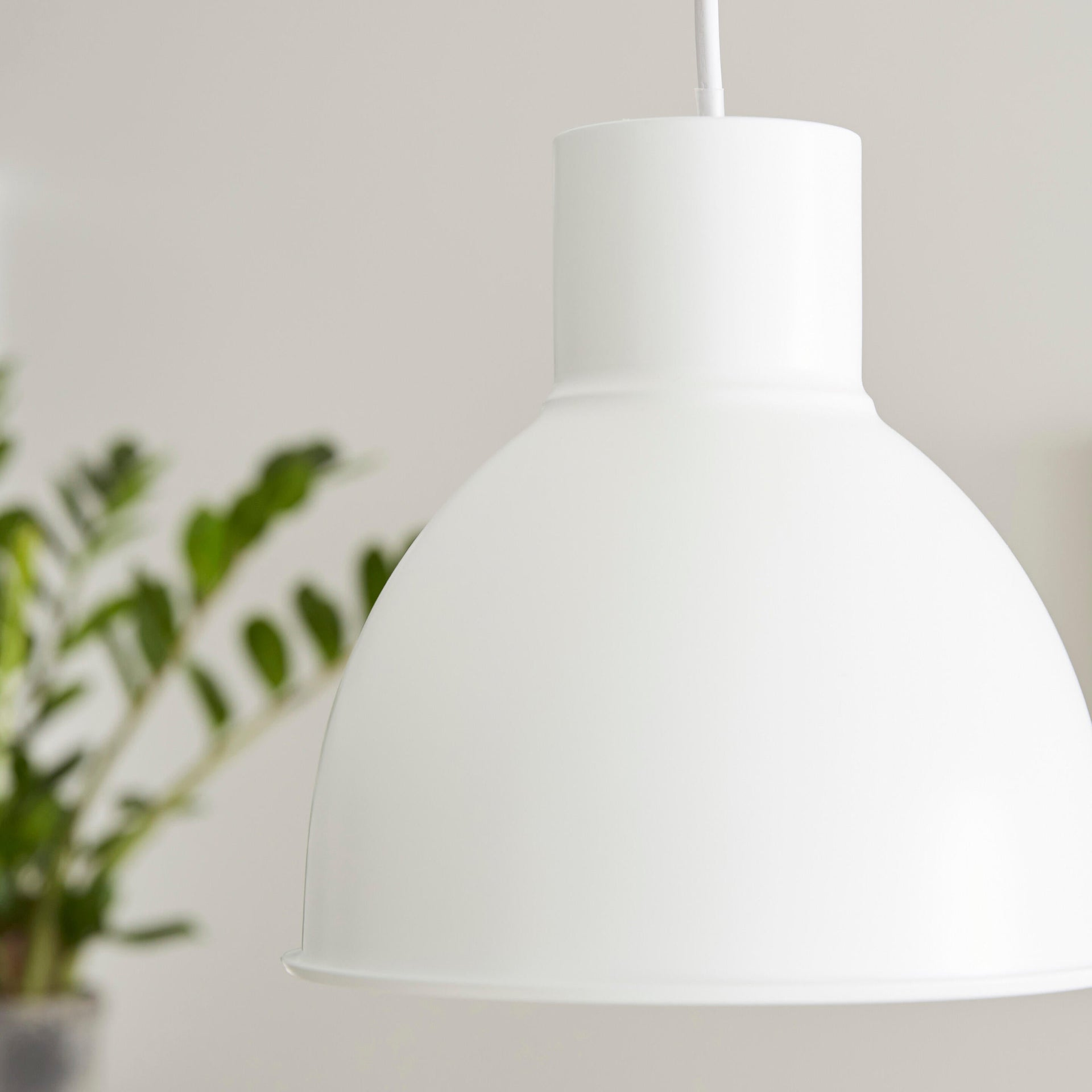 Lampadario Scandinavo Melga bianco in metallo, D. 20 cm, INSPIRE - 2