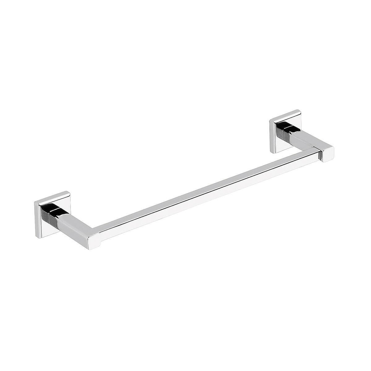 Porta salviette fisso a muro 1 barra argento L 35 cm