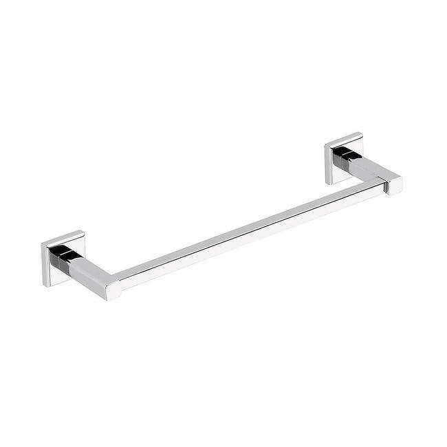Porta salviette fisso a muro 1 barra argento L 35 cm - 1