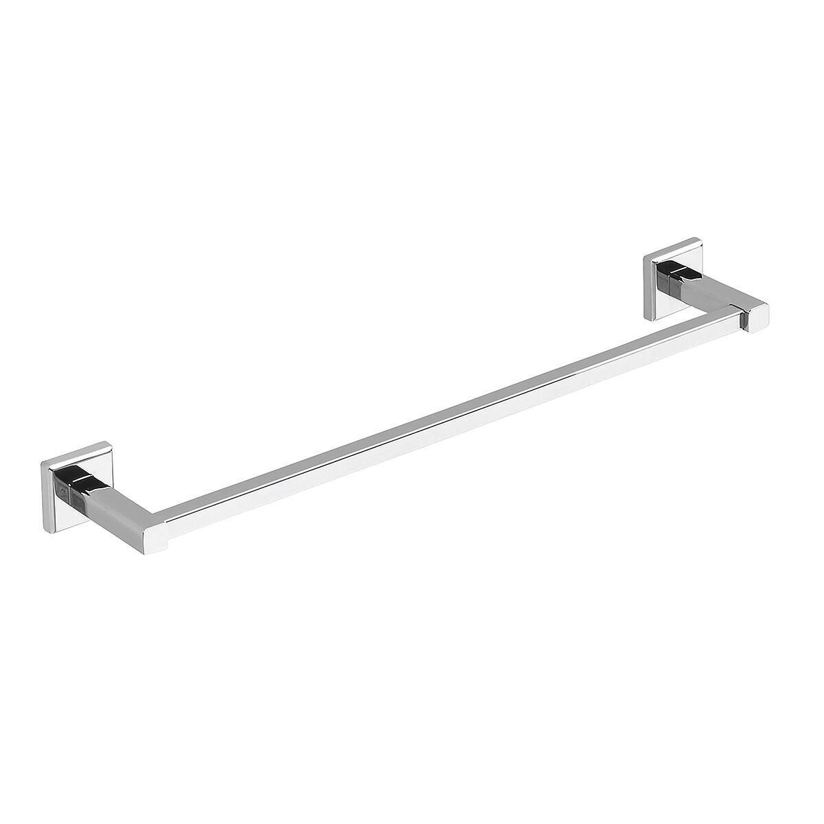 Porta salviette fisso a muro 1 barra argento L 45 cm
