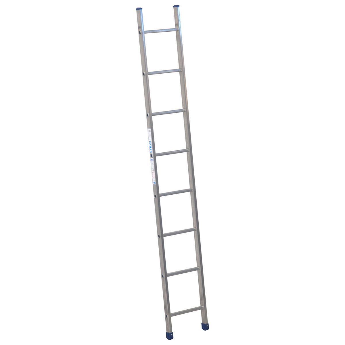Scala ad appoggio Stilo Singola in alluminio 8 gradini per lavori fino a 5.5 m