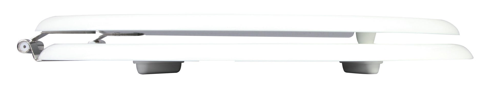 Copriwater ovale Universale Woody WIRQUIN legno massello bianco - 3