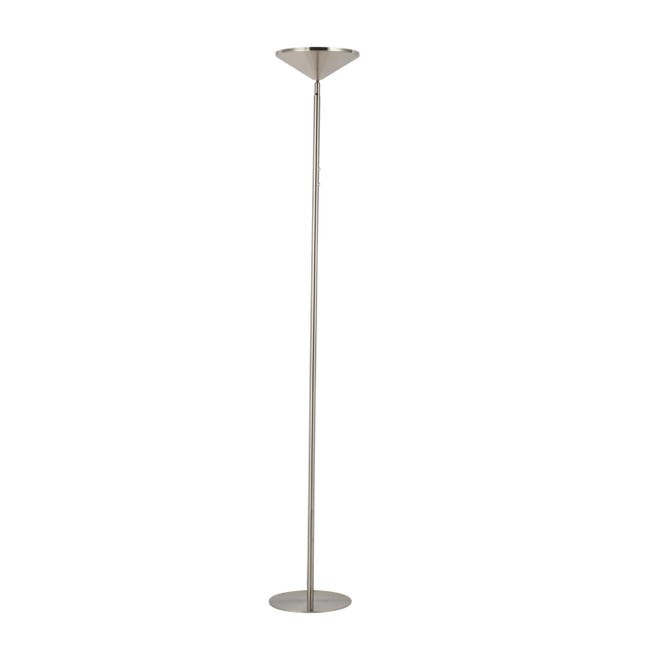Lampada da terra Sauki grigio, in metallo, H180cm LED integrato INSPIRE - 1