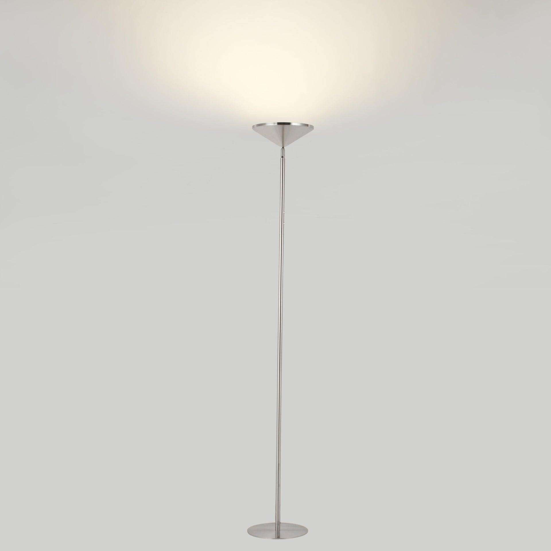 Lampada da terra Sauki grigio, in metallo, H180cm LED integrato INSPIRE - 4