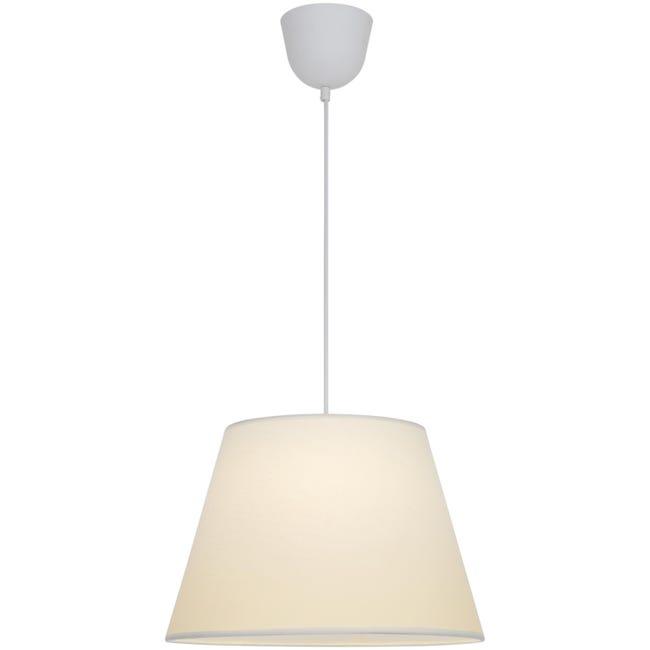 Lampadario Moderno Sitia bianco in tessuto, D. 38 cm, L. 25 cm, INSPIRE - 1