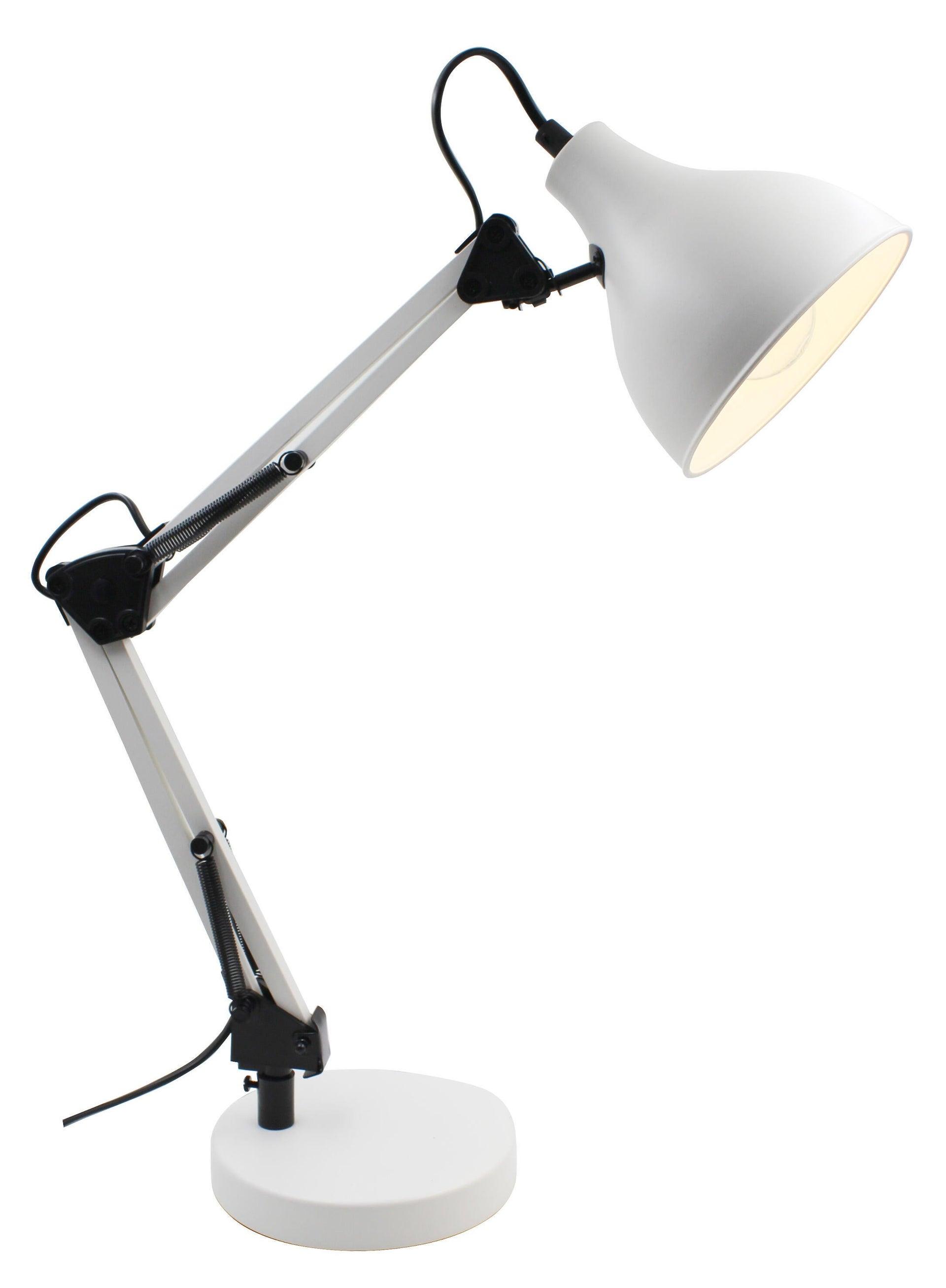 Lampada da scrivania Industriale Ennis bianco , in metallo, INSPIRE - 4