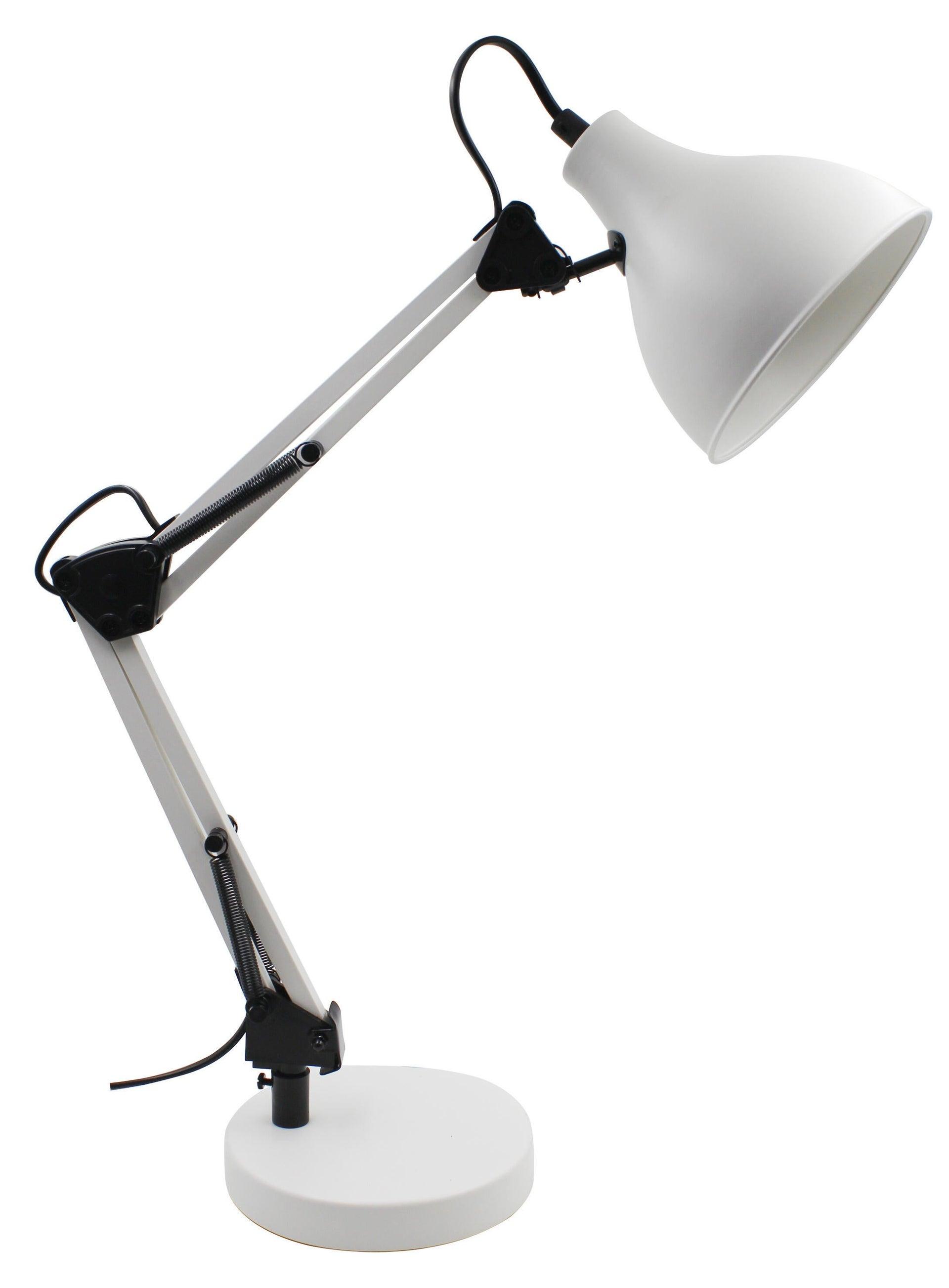 Lampada da scrivania Industriale Ennis bianco , in metallo, INSPIRE - 7