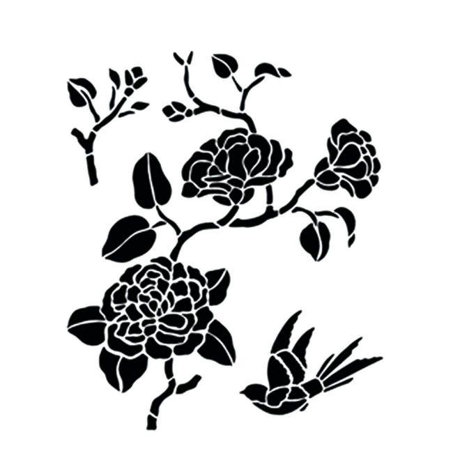 Stencil tema frutti e fiori 35 x 40 cm - 1
