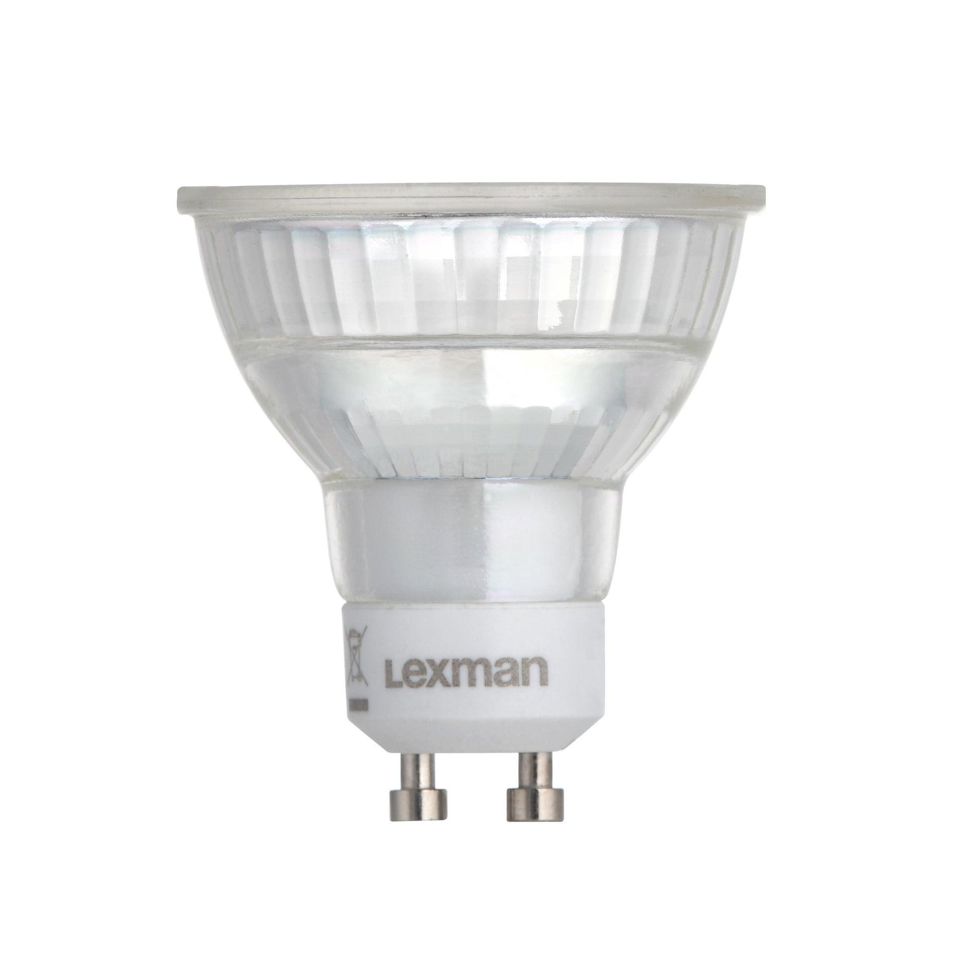 Lampadina LED, GU10, Faretto, Trasparente, Luce naturale, 6W=600LM (equiv 60 W), 100° , LEXMAN - 1