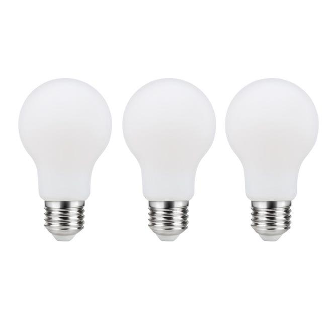 Set di 3 lampadine LED filamento, E27, Goccia, Opaco, Luce naturale, 11W=1521LM (equiv 100 W), 360° , LEXMAN - 1
