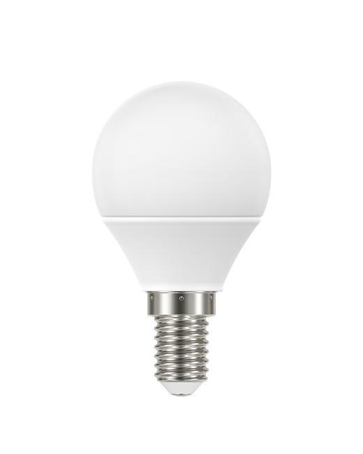 Lampadina LED, E14, Sferico, Smerigliato, Luce naturale, 5W=470LM (equiv 40 W), 220° , LEXMAN - 1