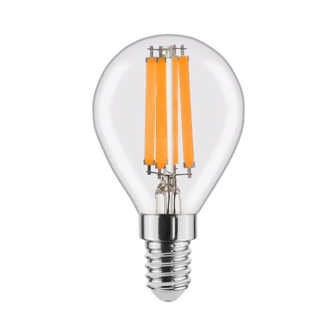 Lampadina LED filamento, E14, Globo, Trasparente, Luce naturale, 6W=806LM (equiv 60 W), 360° , LEXMAN - 1
