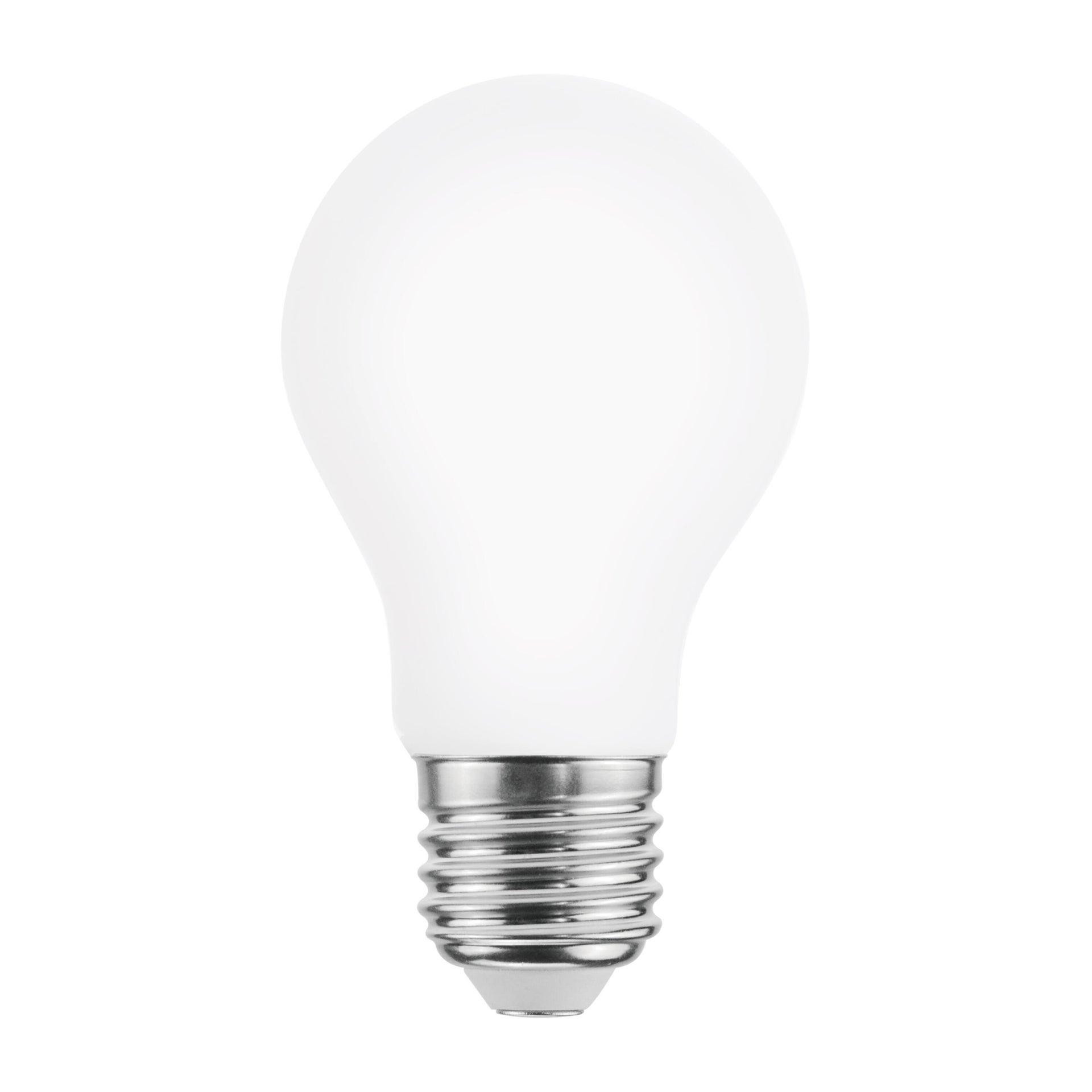 Lampadina LED, E27, Goccia, Opaco, Luce fredda, 8W=1055LM (equiv 75 W), 360° , LEXMAN - 1