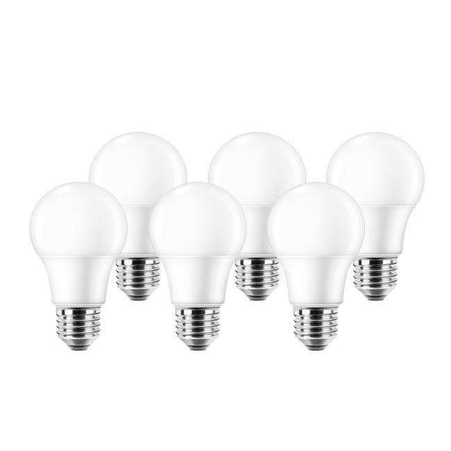 Set di 6 lampadine LED, E27, Goccia, Smerigliato, Luce naturale, 8.5W=806LM (equiv 60 W), 220° , LEXMAN - 1