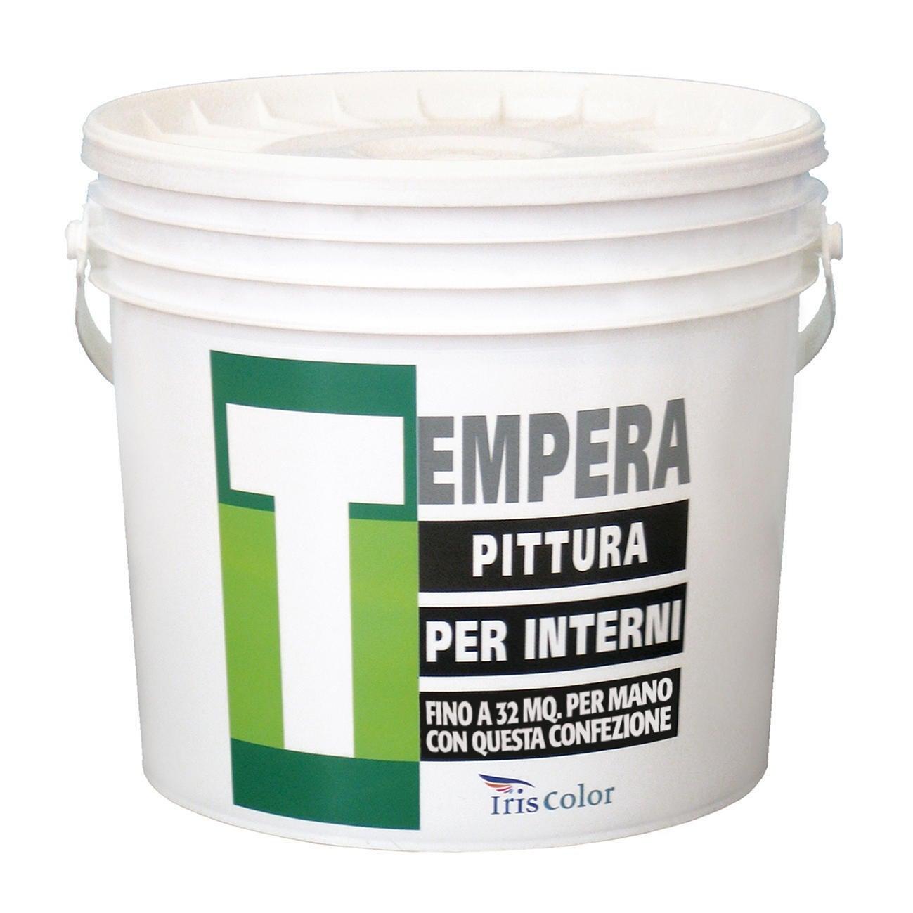 Pittura murale traspirante Tempera IRIS COLOR bianco 14 L