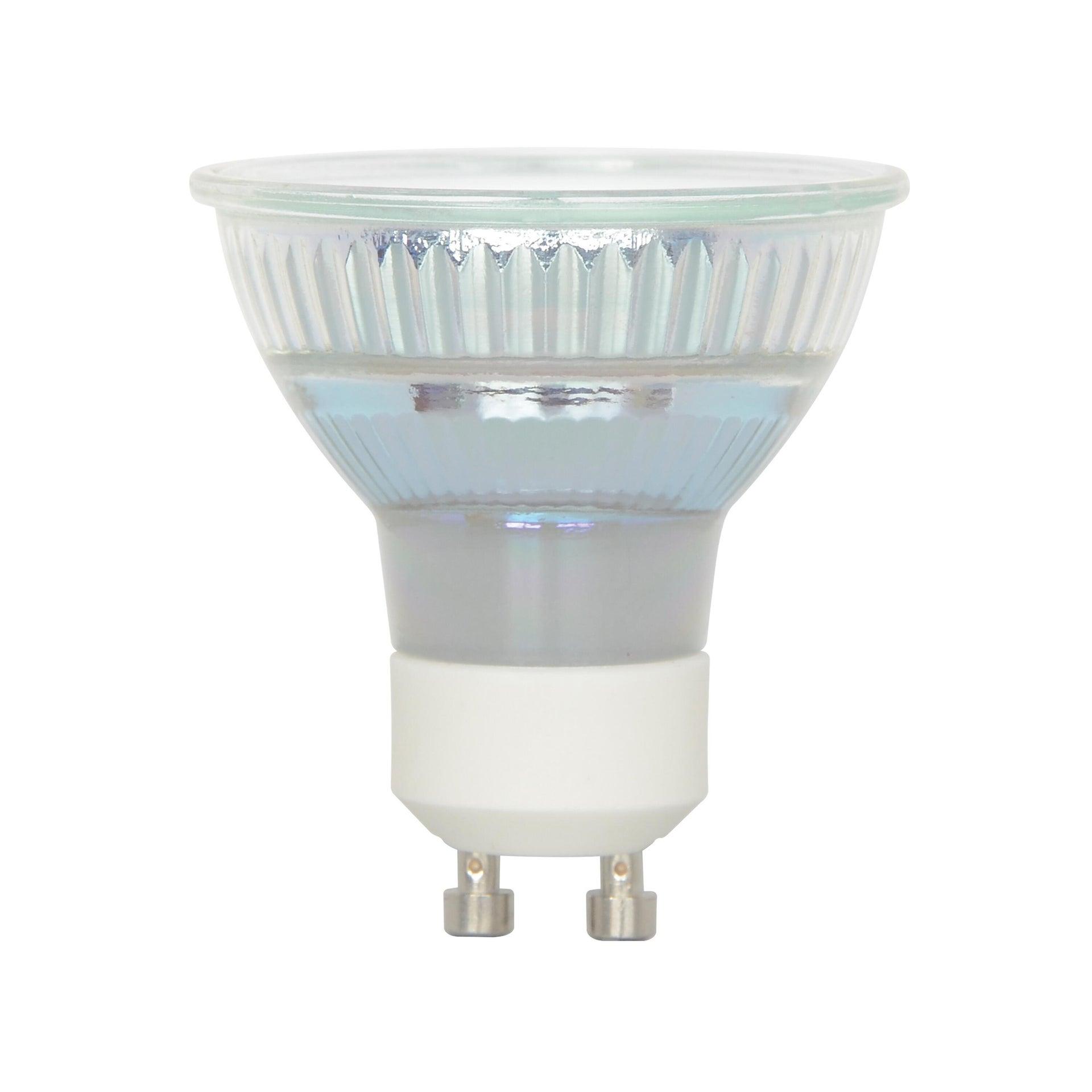 Lampadina LED, GU10, Faretto, Trasparente, Luce calda, 5.3W=460LM (equiv 50 W), 100° , LEXMAN - 10