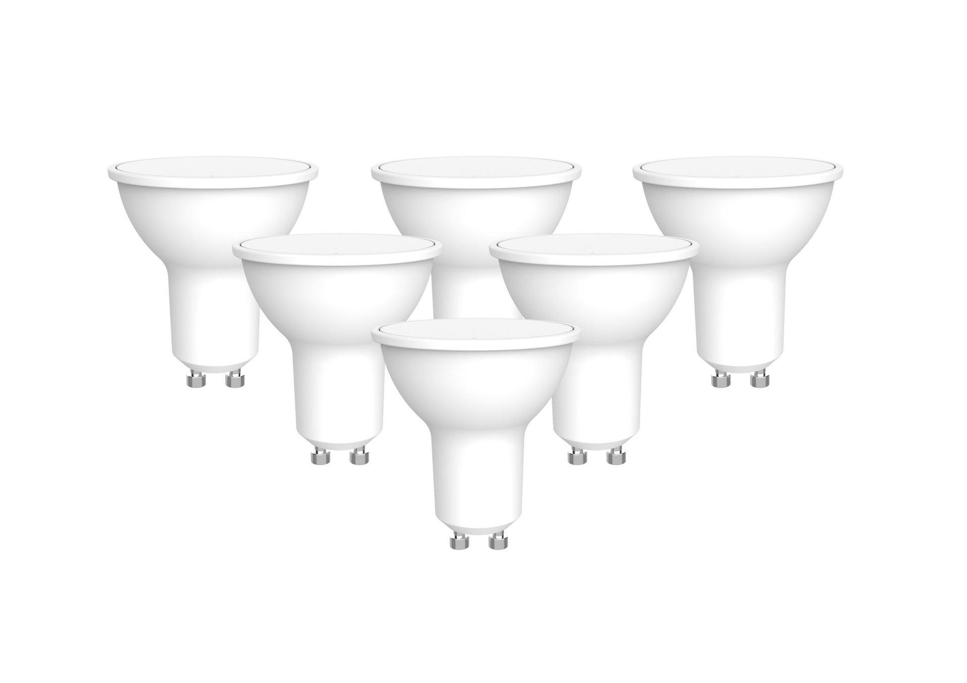 Set di 6 lampadine LED, GU10, Faretto, Smerigliato, Luce naturale, 6W=450LM (equiv 50 W), 100° , LEXMAN - 1