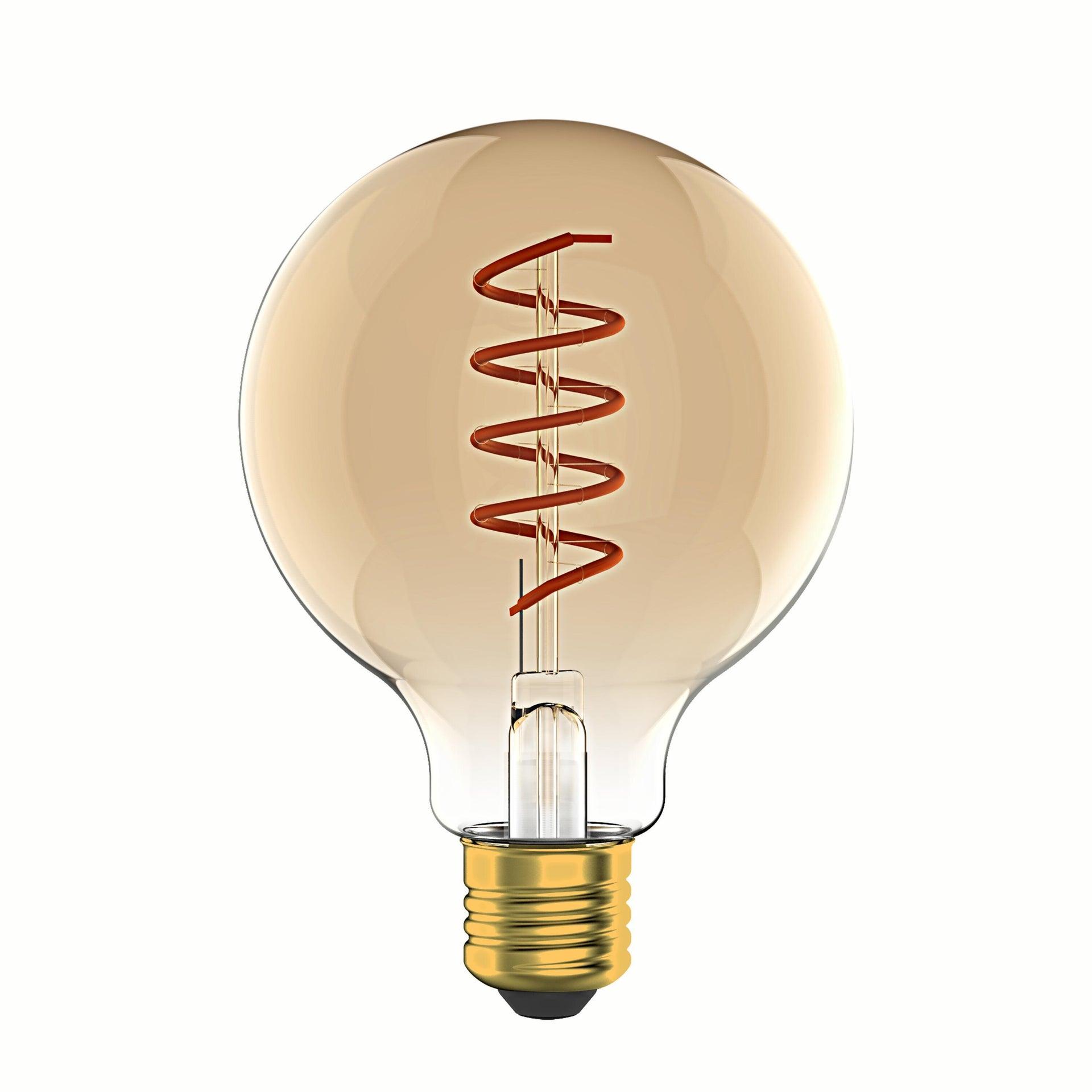 Lampadina LED, E27, Globo, Ambra, Luce calda, 6W=400LM (equiv 35 W), 360° , LEXMAN - 1