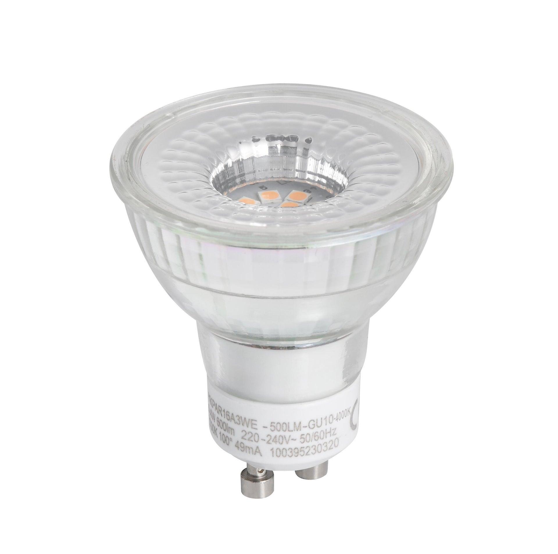 Lampadina LED, GU10, Faretto, Trasparente, Luce naturale, 6W=600LM (equiv 60 W), 100° , LEXMAN - 5