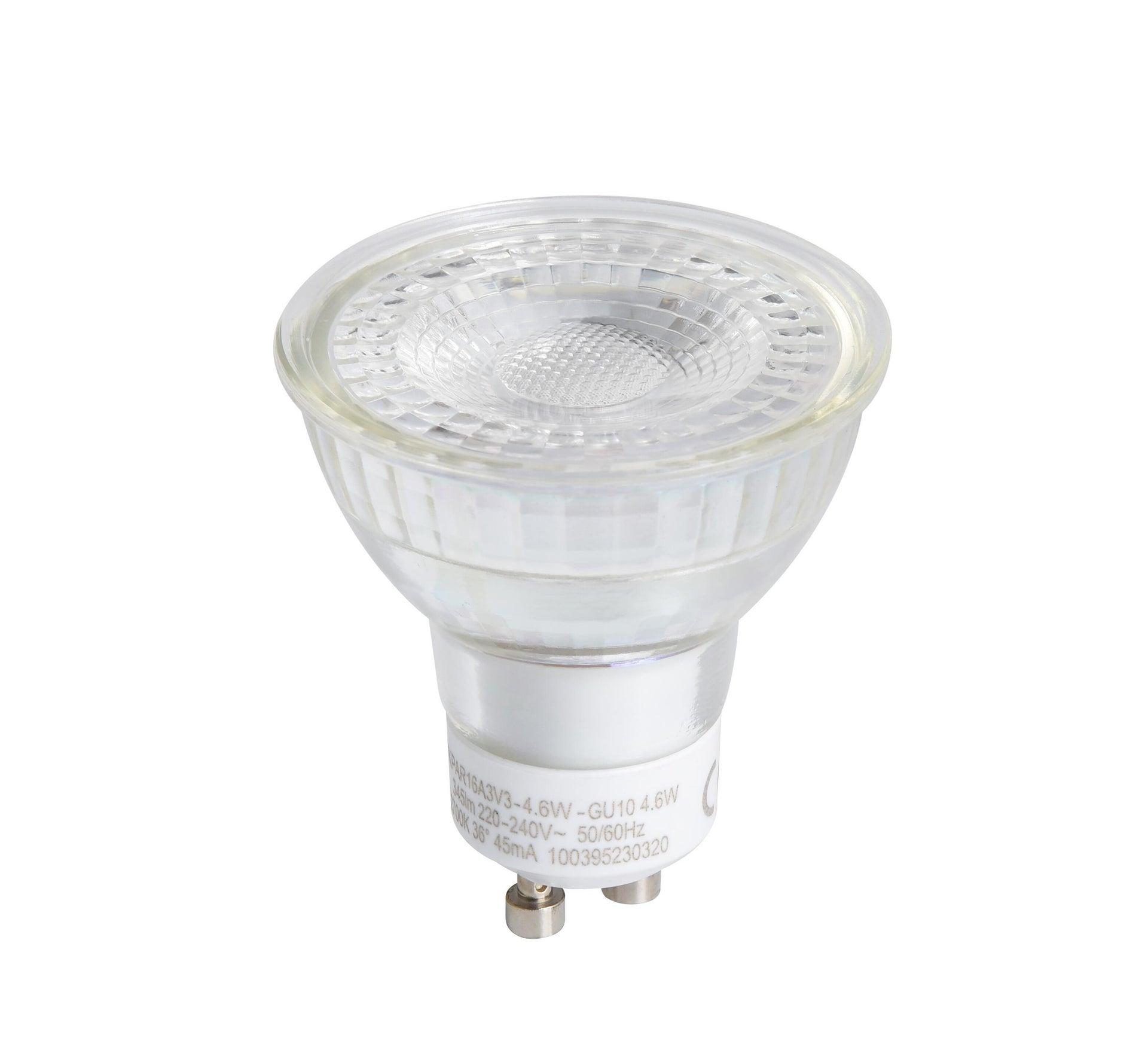 Lampadina LED, GU10, A U, Trasparente, Luce calda, 4.6W=345LM (equiv 50 W), 36° , LEXMAN - 3