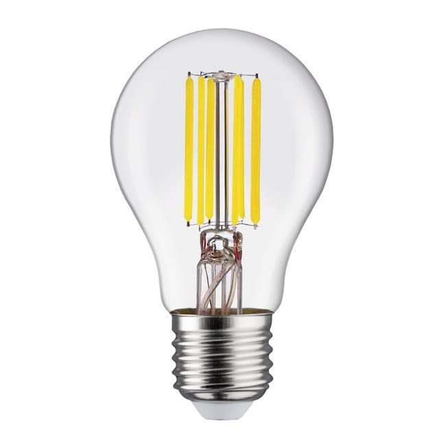 Lampadina LED filamento, E27, Goccia, Trasparente, Luce naturale, 11W=1521LM (equiv 100 W), 360° , LEXMAN - 1