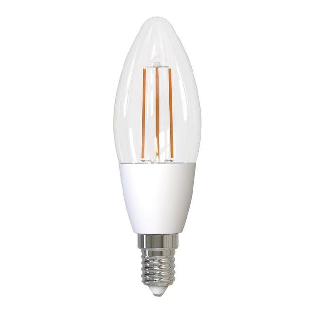Lampadina smart lighting LED filamento, E14, Oliva, Trasparente, Luce naturale, 4.5W=480LM (equiv 4,5 W), 320° - 1