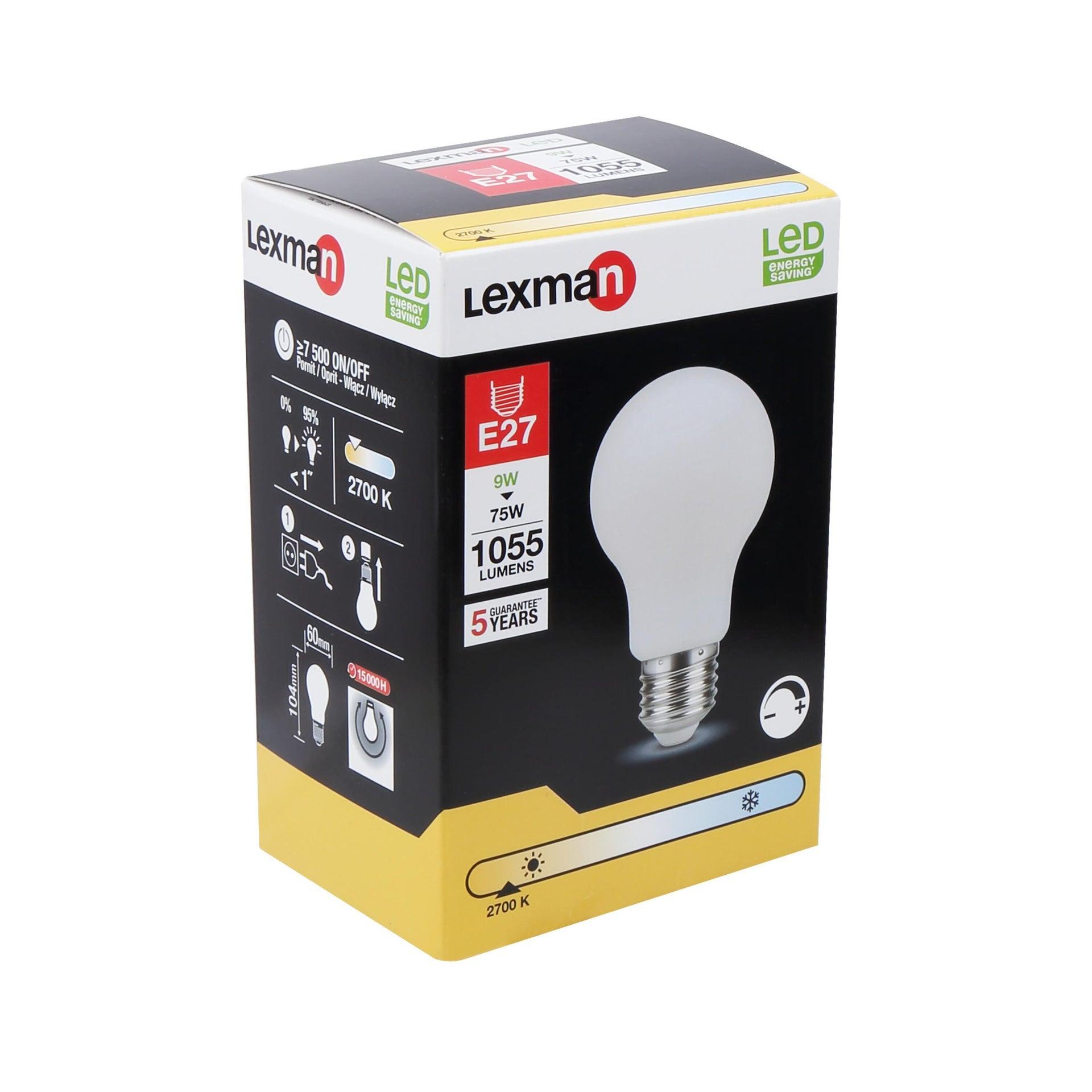 Lampadina LED filamento, E27, Goccia, Opaco, Luce calda, 10W=1055LM (equiv 75 W), 360° , LEXMAN - 2