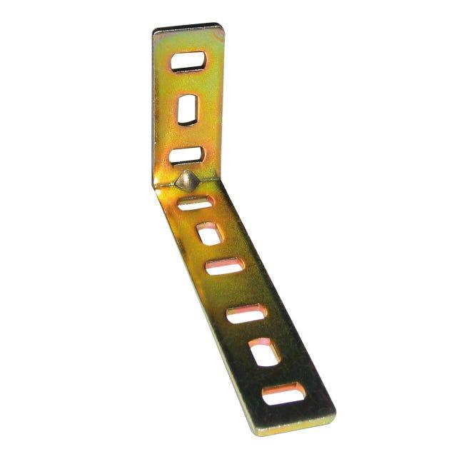 Piastra angolare STANDERS in acciaio zincato L 40 x Sp 2 x H 20 mm - 1