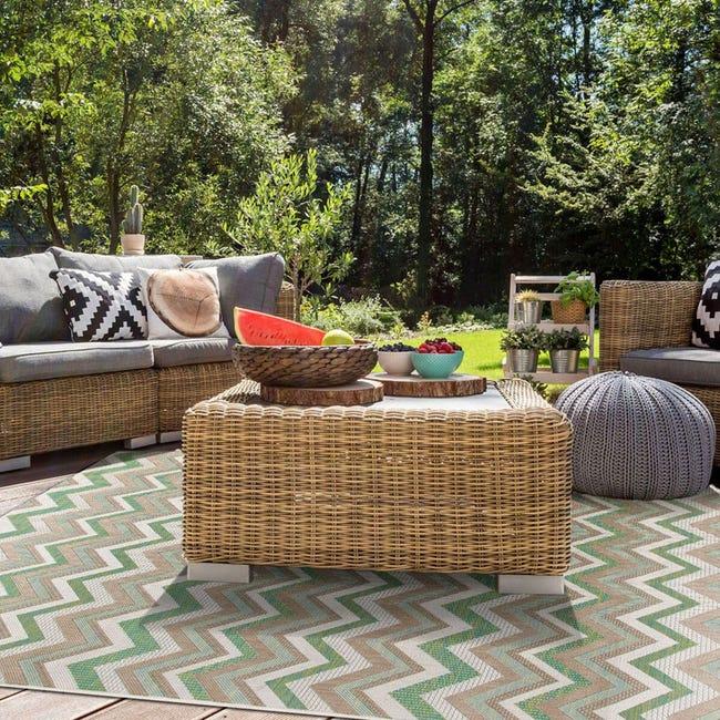 Tappeto per esterno Outdoor , verde, 50x115 - 1