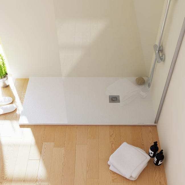Piatto doccia resina Logic 80 x 100 cm bianco - 1