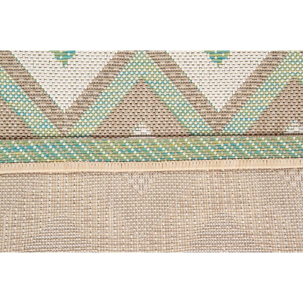 Tappeto per esterno Outdoor , verde, 50x115 - 4