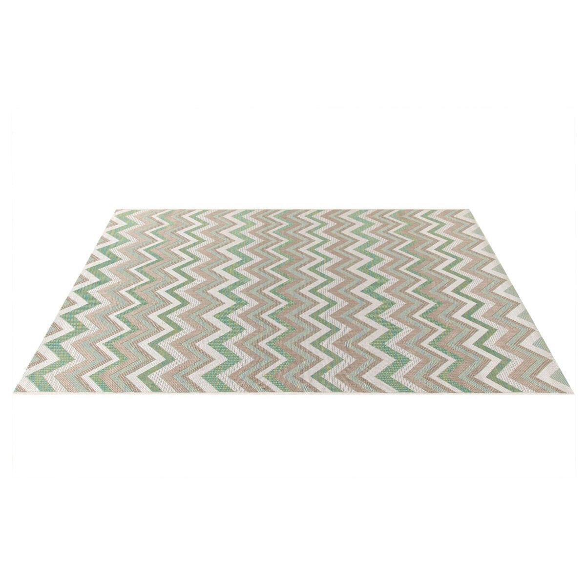 Tappeto per esterno Outdoor , verde, 50x115 - 3