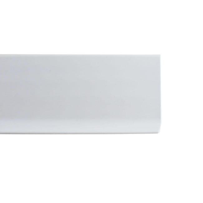 Battiscopa H 8 cm x L 2 m bianco - 1