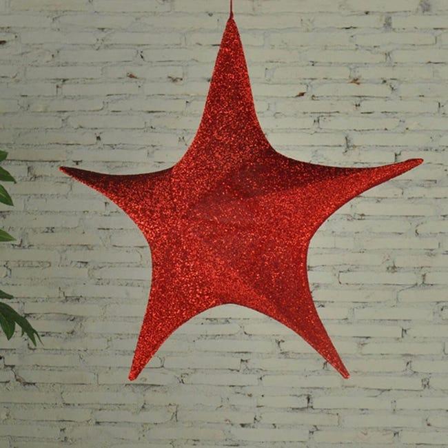 Figura natalizia rosso H 80 cm - 1