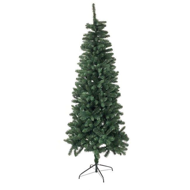 Albero di natale artificiale verde H 180 cm, - 1