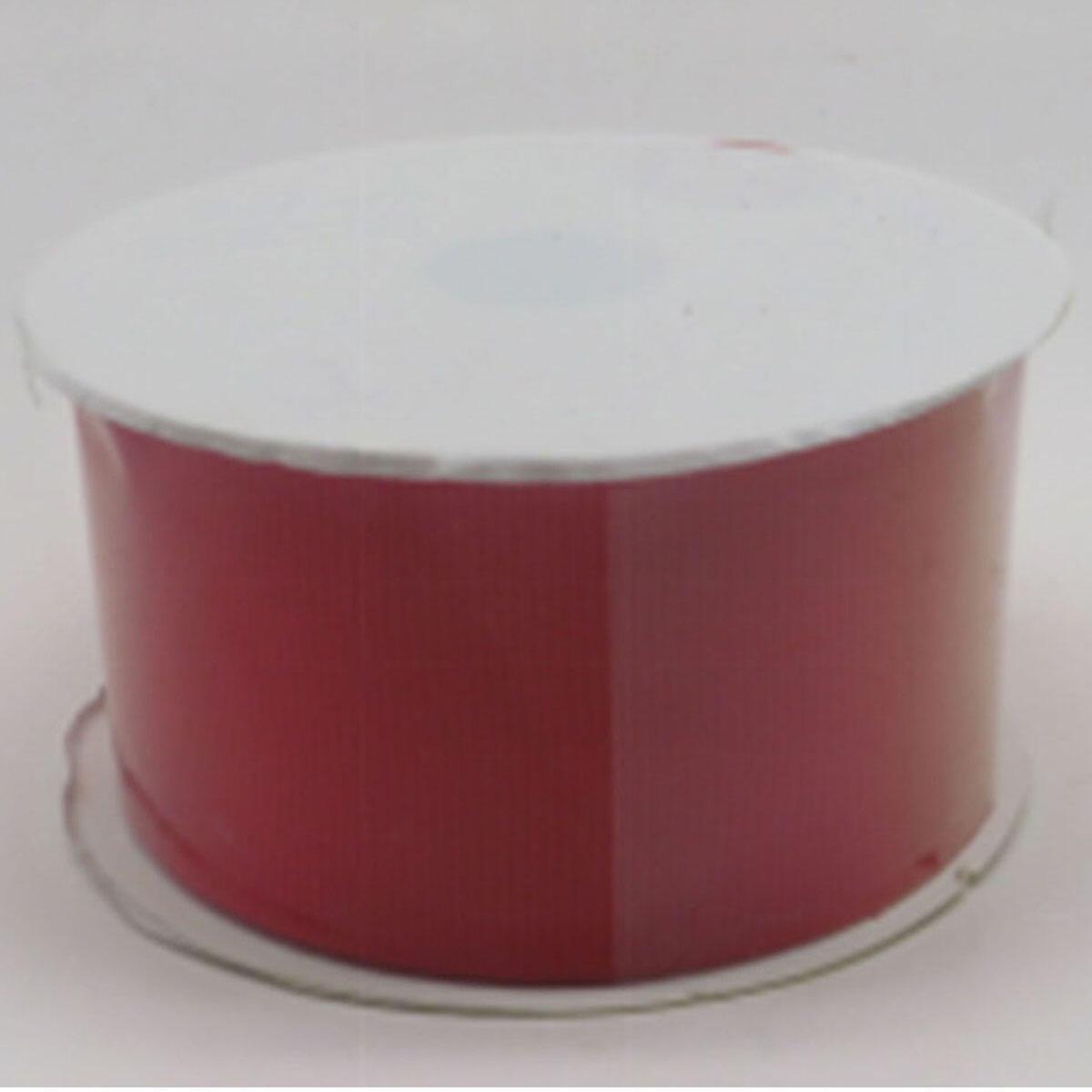 Decorazione per albero di natale in tessuto rosso biancoL 3.5 cm