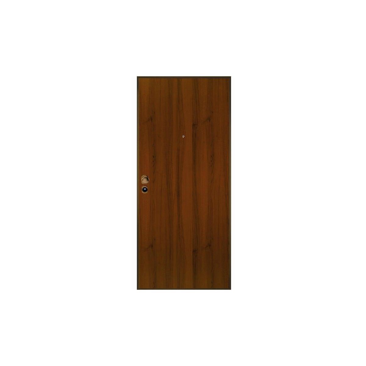Porta blindata Blocked marrone L 90 x H 210 cm destra - 4
