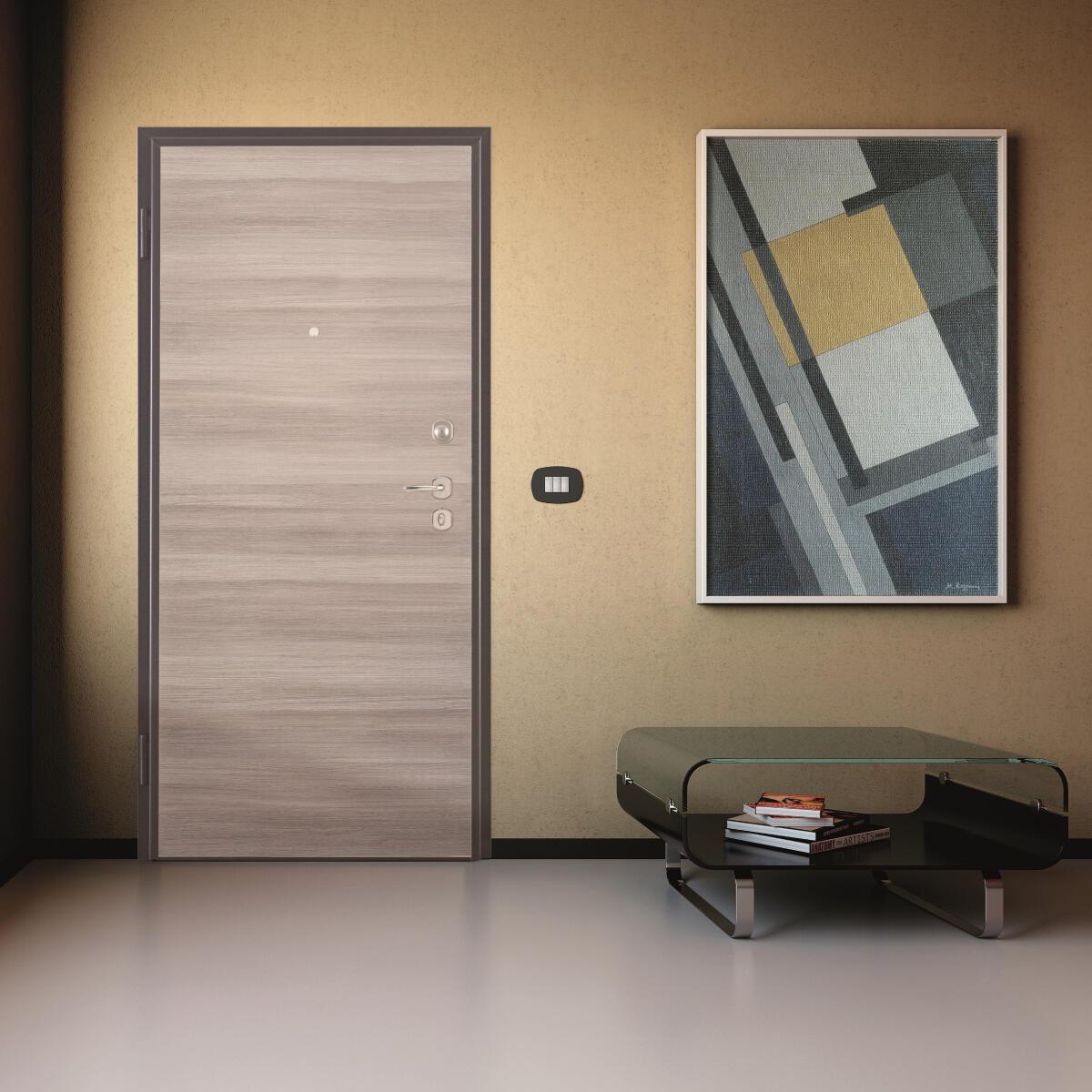 Porta blindata Blocked marrone L 90 x H 210 cm destra - 5