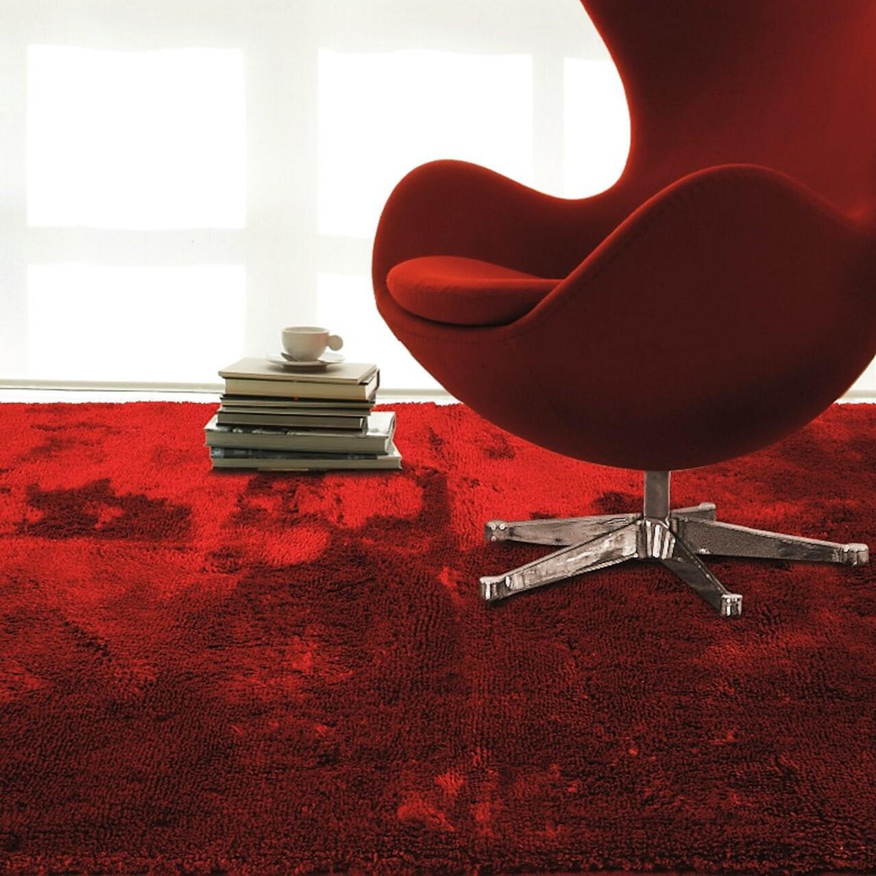 Tappeto Shaggy coccole , rosso, 120x170 - 1
