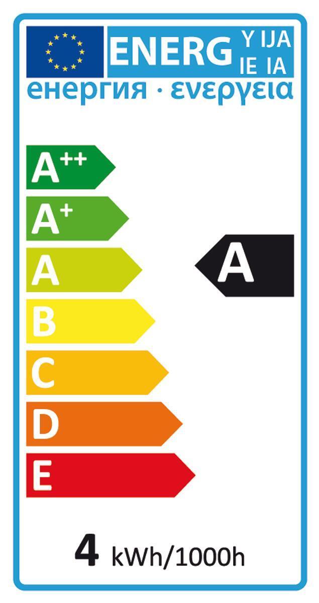 Lampadina decorativa LED, Script Home, E27, Globo, Ambra, Luce calda, 4W=200LM (equiv 4 W), 270° - 2