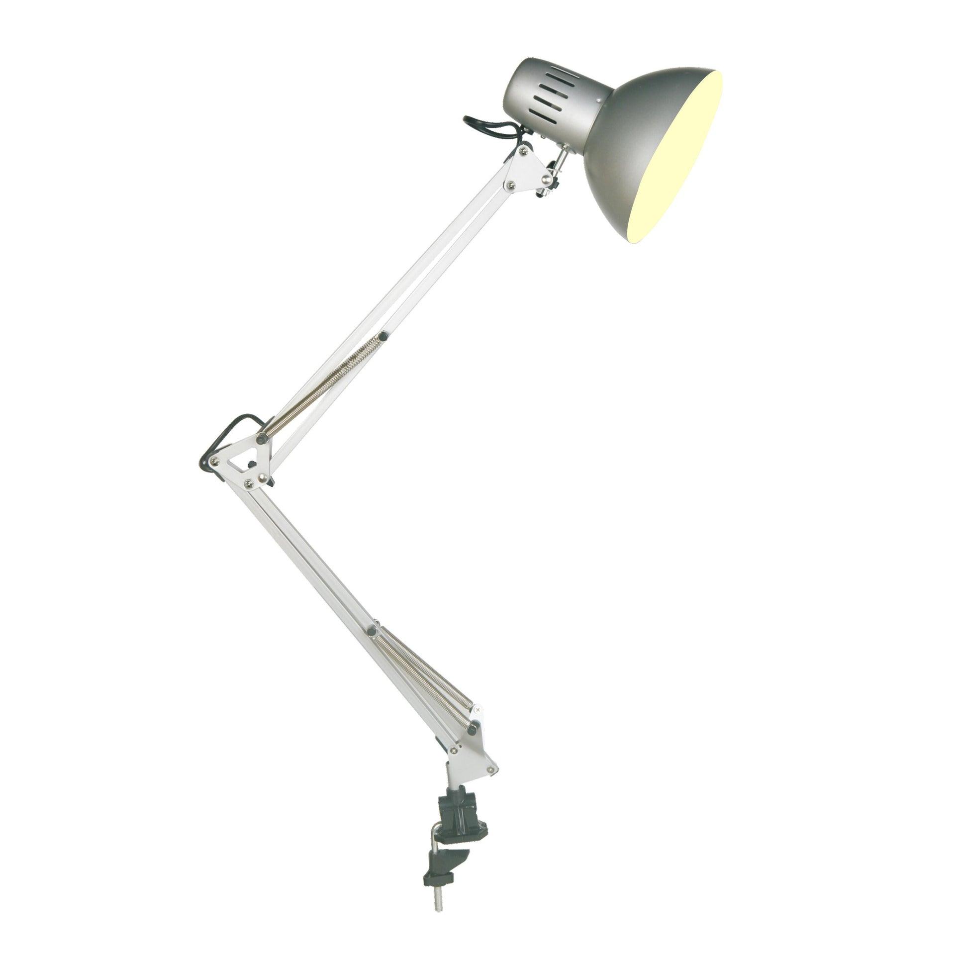 Lampada da scrivania Industriale Arquitecto grigio , in metallo, INSPIRE - 2