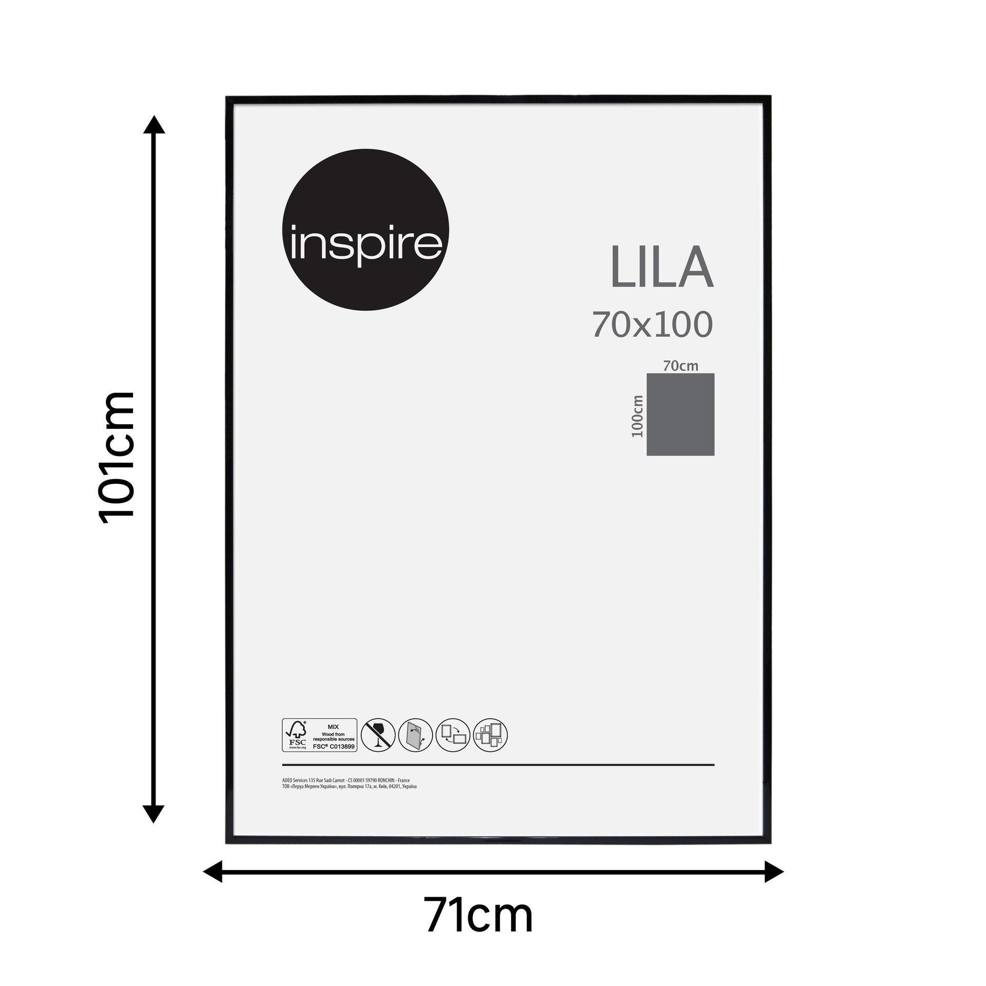Cornice INSPIRE Lila nero per foto da 70x100 cm - 7