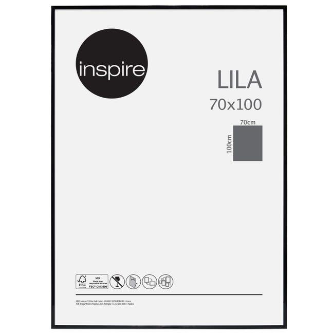 Cornice INSPIRE Lila nero per foto da 70x100 cm - 1