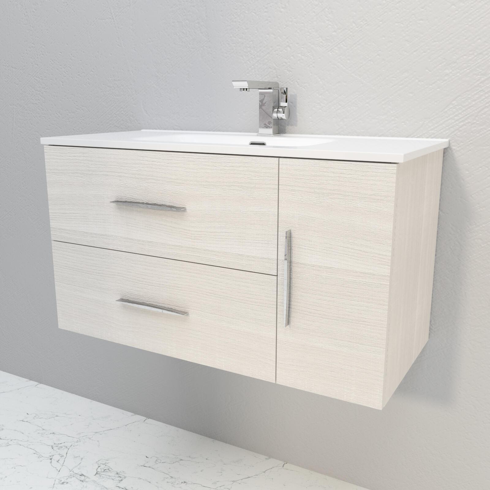 Mobile bagno Master bianco rock L 100 cm