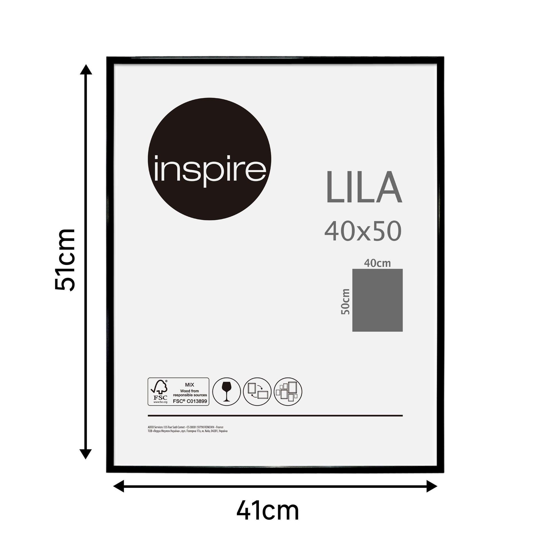 Cornice INSPIRE Lila nero per foto da 40x50 cm - 10