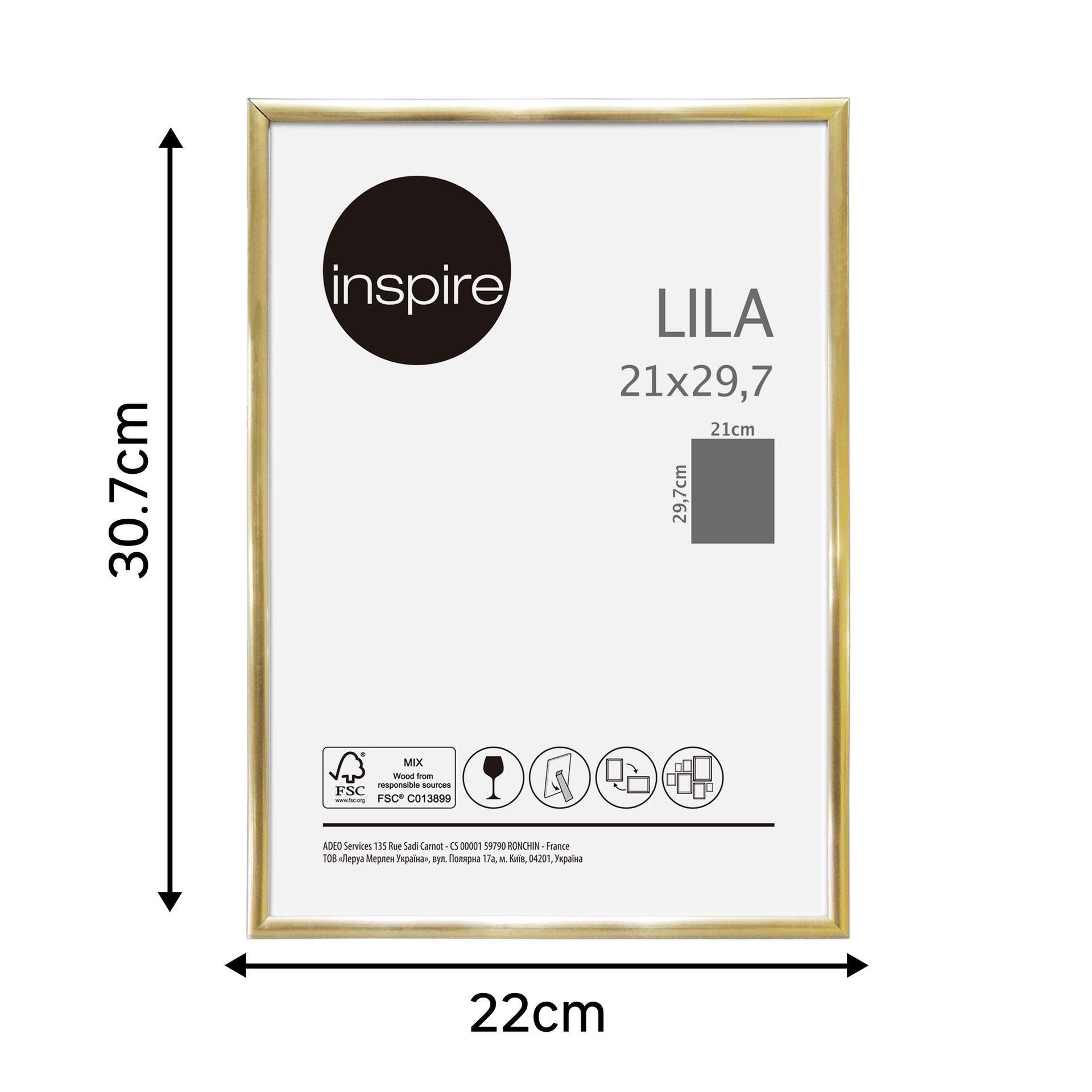 Cornice INSPIRE Lila oro per foto da 21x29.7(A4) cm - 10