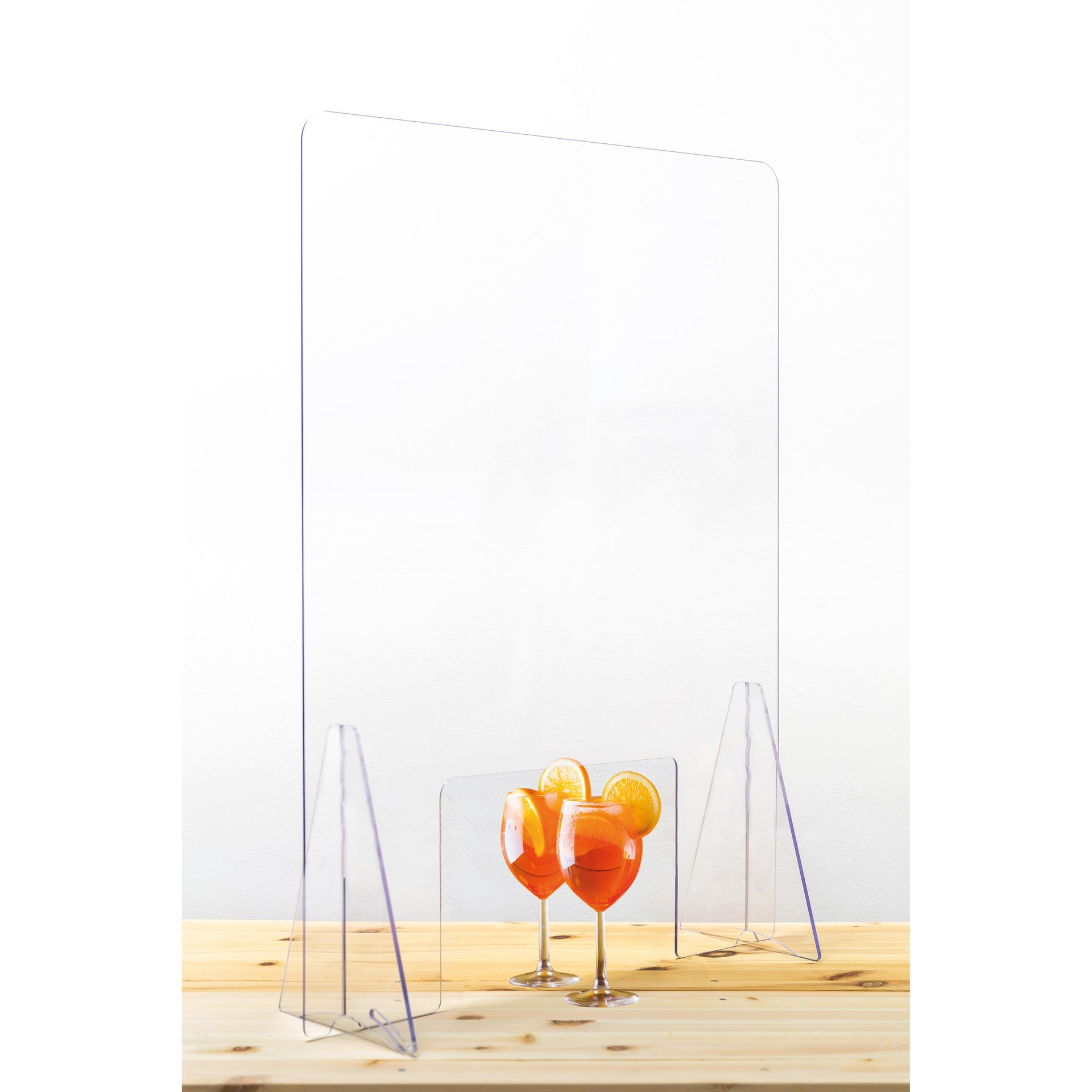 Schermo di protezione acrilico trasparente 80 cm x 80 cm, Sp 0.5 mm - 1