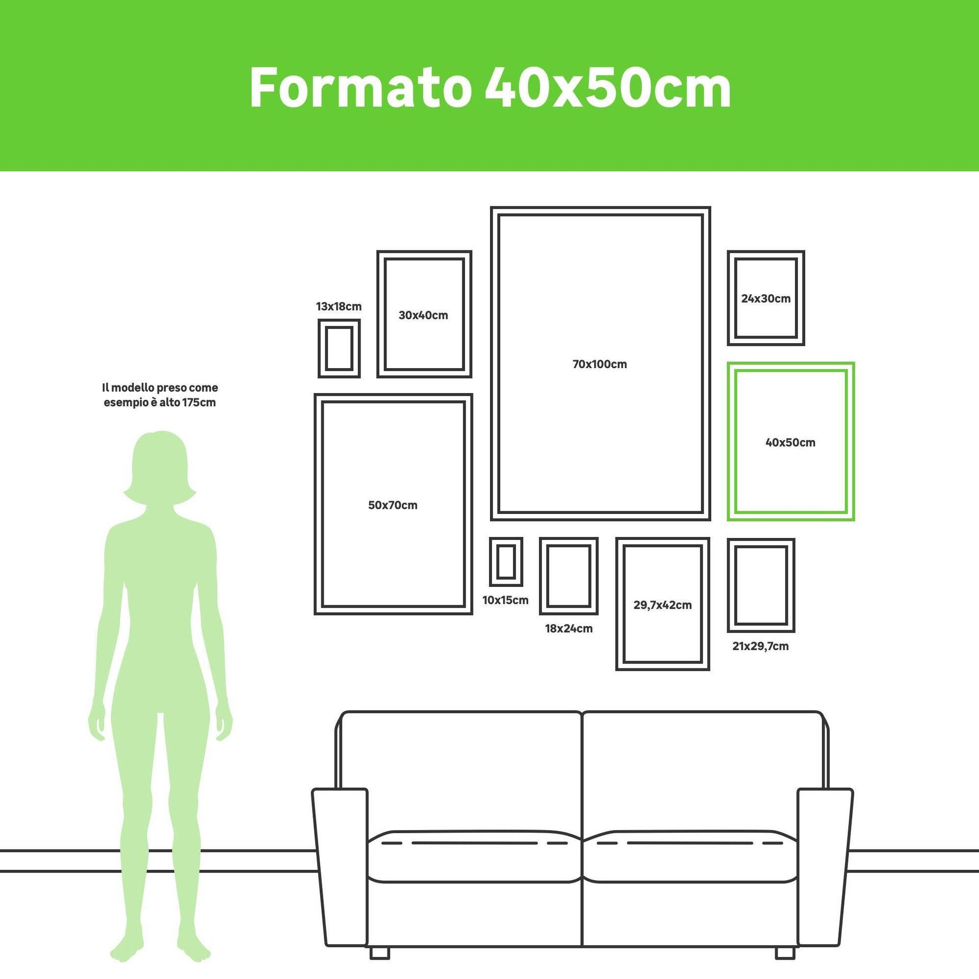 Cornice INSPIRE Lila nero per foto da 40x50 cm - 4