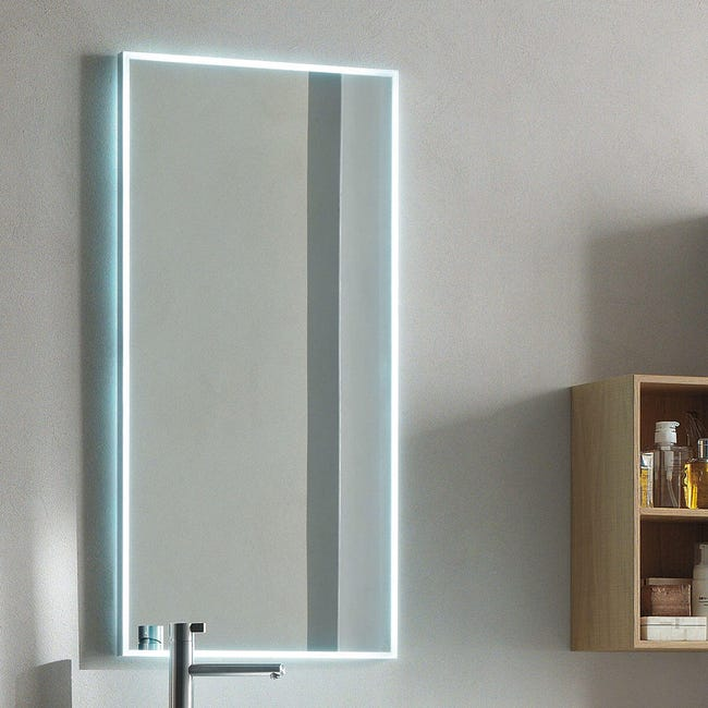 Specchio Con Illuminazione Integrata Bagno Rettangolare Plane L 120 X H 66 2 Cm Leroy Merlin