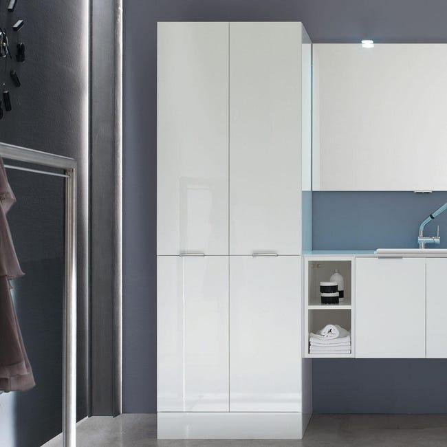 Mobile lavanderia bianco L 70 x P 62 x H 200 cm - 1